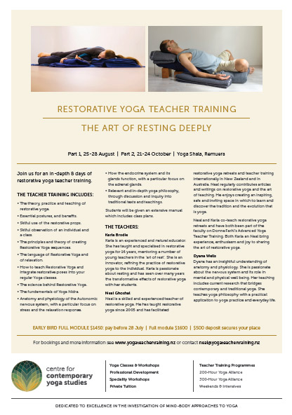 Restorative Yoga Training Brochure 2016