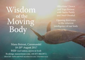 Wisdom of the Moving Body, Yoga and 5Rhythms with Sacha Paddy and Neal Ghoshal